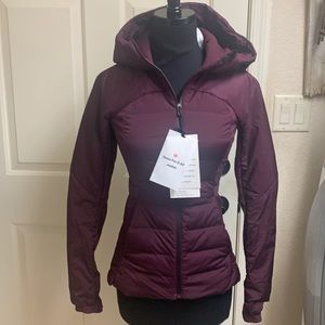 NWT Lululemon Down For It All jacket, sz4